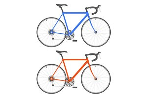 Two Color Bicycle