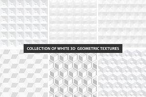 Geometric white 3d seamless textures