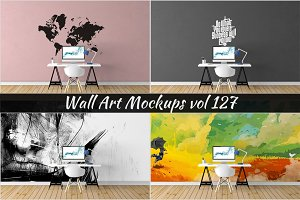 Wall Mockup - Sticker Mockup Vol 127
