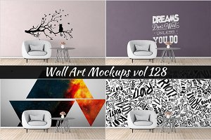 Wall Mockup - Sticker Mockup Vol 128