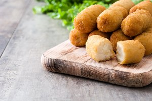 Fried Spanish croquettes