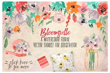 Watercolor Floral Vector Toolkit