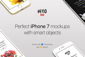 HERO iPhone 7 Mockups