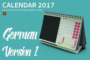 German Desk Calendar 2017 Version 1