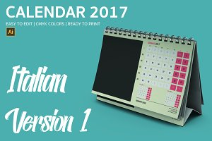 Italian Desk Calendar 2017 Version 1