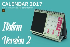 Italian Desk Calendar 2017 Version 2