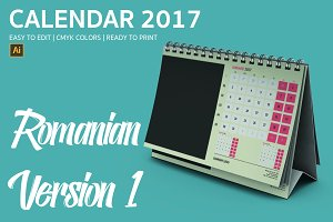 Romania Desk Calendar 2017 Version 1