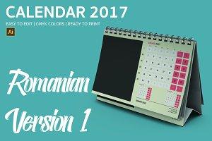 Romania Desk Calendar 2017 Version 1