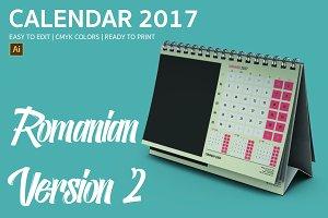 Romania Desk Calendar 2017 Version 2