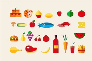 Food icon vector set - 26