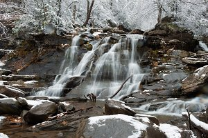Winter waterfall in Kaaterskill