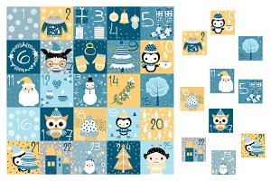 Countdown Christmas advent calendar