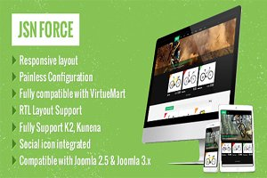 JSN Force- E-Commerce Template