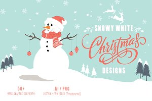Christmas Designs : Snowy White