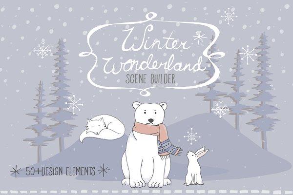 Arctic Animal Clipart Set