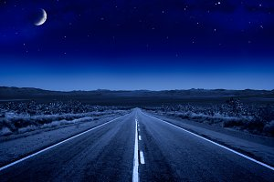 Desert Night Road