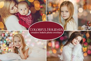 Colorful Holidays photo overlays
