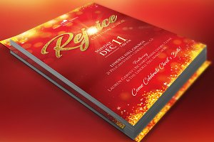 Rejoice Christmas Flyer Poster