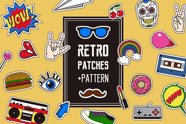 Retro patches+pattern