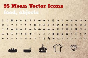 95 Food & Objects icon set