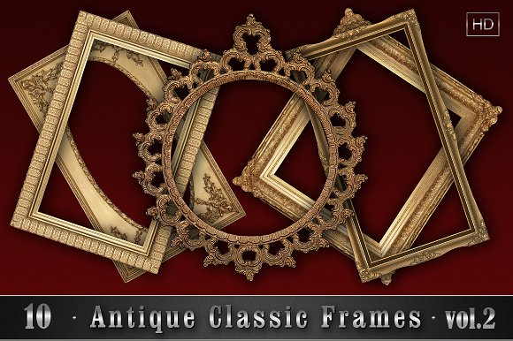 10 Antique Classic Frames vol.2 - Objects