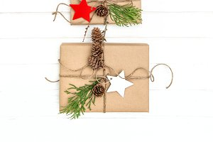 Christmas tree wrapped gifts