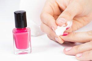 Nail polish remover.