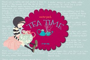 Tea Time Vector Pack