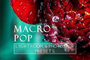 3 Macro Pop Detail LR & PS Presets