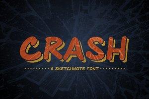 Crash: A Handrawn Sketchnote Font