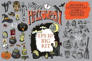 Big Halloween doodle kit