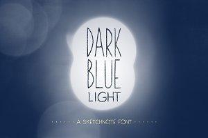 Dark Blue Light: A Handdrawn Font