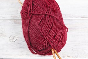 Skein of Red Yarn