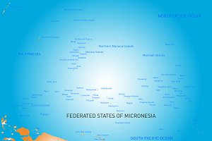 map of micronesia island