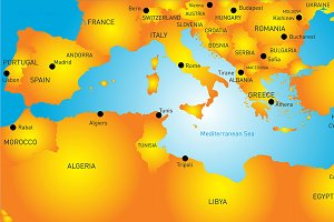 Mediterranean region countries