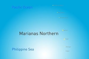 northern mariana islands map