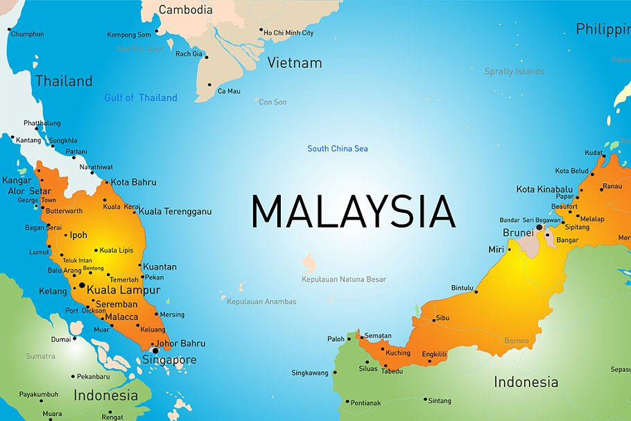 Vector map of Malaysia country on thailand map, selangor map, pacific islands map, holland map, china map, armenia map, iran map, phillipines map, united kingdom map, japan map, sarawak map, chile map, singapore on map, world map, ukraine map, ireland map, europe map, kota kinabalu map, yemen map, australia map, cyprus map, french polynesia map, georgia map,
