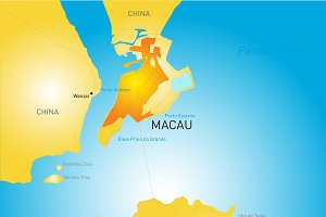 Macau administrative map