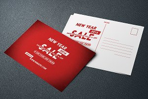 New Year Sale Postcard