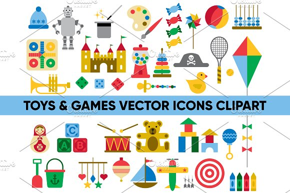 Toys Games Vector Icons Clipart Icons Creative Market