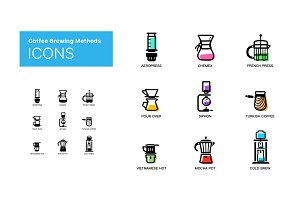 Coffee Brewing Methods - icons