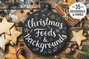 Christmas Foods & Backgrounds