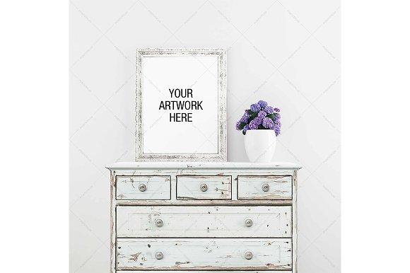 Poster Mockup Turqoise Dresser