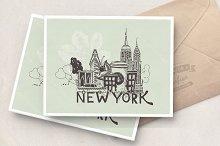 New York vector poster