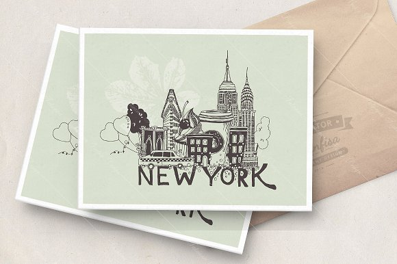 New York Vector Poster