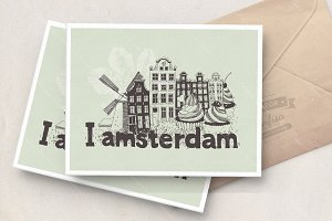 Amsterdam vector poster