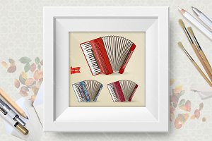 Accordeon vector illustration