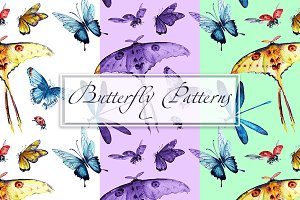 Butterfly Patterns watercolor