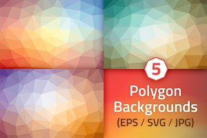 Polygon Backgrounds - Summer Colors