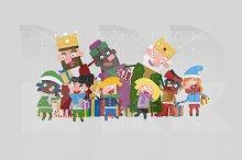 3d illustration. Magic Kings gifting